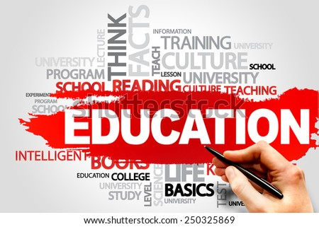 EDUCATION word cloud concept - stock photo