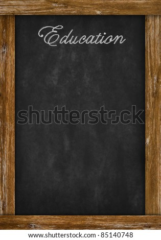 education word writing on chalkboard with space - stock photo