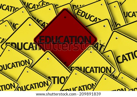 Education written on multiple road sign  - stock photo