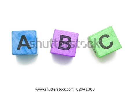 Educational blocks - stock photo