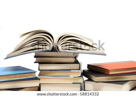 Educational Books - stock photo