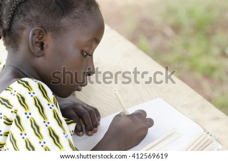Educational Symbol for Africa. - stock photo