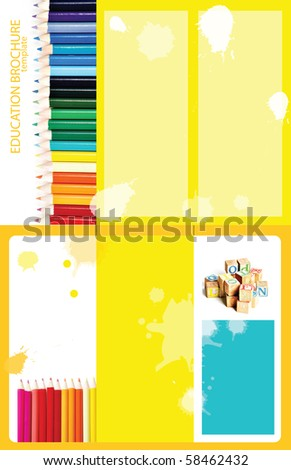 Educational Themed Trifold Brochure Template X Stock Photo - 85x11 tri fold brochure template