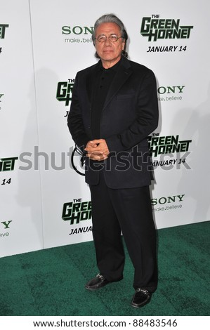 "Edward James Olmos at the Los Angeles premiere of his new movie ""The Green Hornet"" at Grauman's Chinese Theatre, Hollywood. January 10, 2011  Los Angeles, CA Picture: Paul Smith / Featureflash"