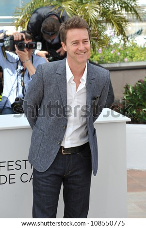 "Edward Norton at the photocall for his new movie ""Moonrise Kingdom"" at the 65th Festival de Cannes. May 16, 2012  Cannes, France Picture: Paul Smith / Featureflash"