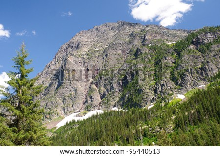 Edwards Mountain in Glacier National Park