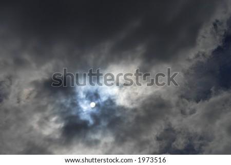 eerie sky - stock photo