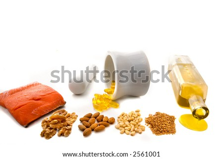 EFA , Essential Fatty Acids - stock photo
