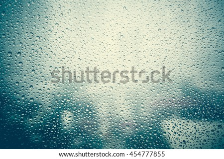 effect from raindrop make vapor on the window
