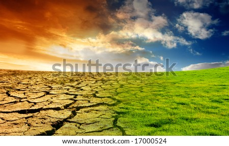 Effect of Global Warming - stock photo