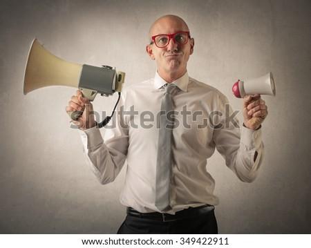 Effective communication ways - stock photo