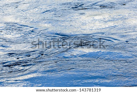 Effects of water waves around the ship running