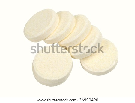 effervescent tablet - stock photo