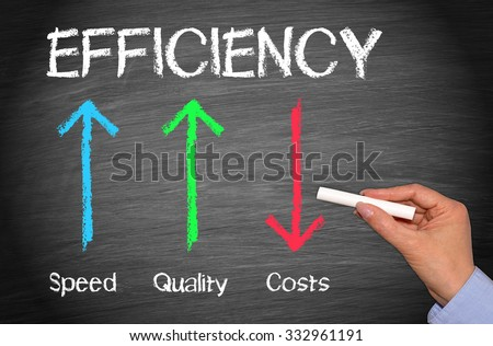 Efficiency Business Concept - stock photo