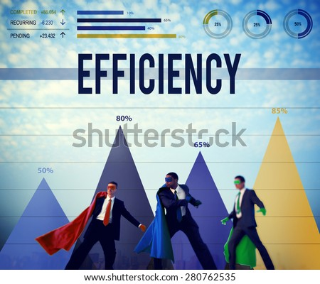 Efficiency Improvement Achievement Business Success Concept - stock photo