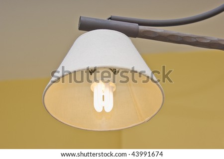 Efficient light bulb in use. - stock photo