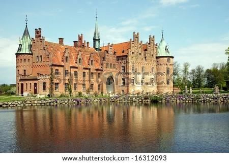 Egeskov castle (Denmark) - stock photo