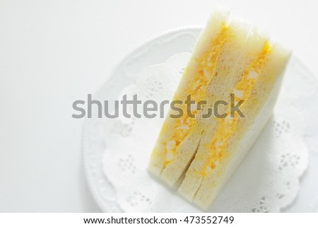 egg and mayonnaise sandwich in Japanese food style