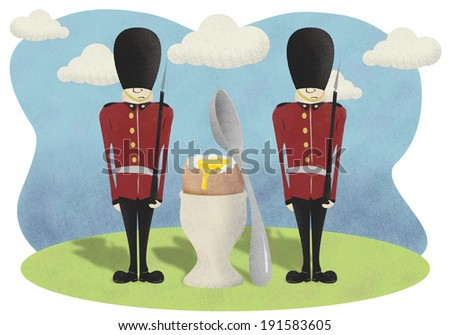 Egg and Soldiers - stock photo