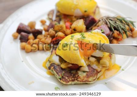 egg benedict - stock photo