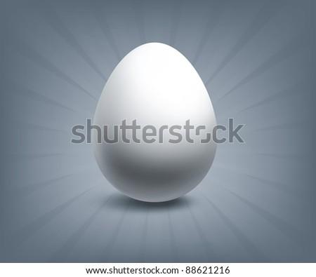 Egg, bitmap copy - stock photo