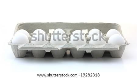 Egg Carton. - stock photo