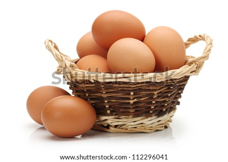 Egg collection isolated on white background