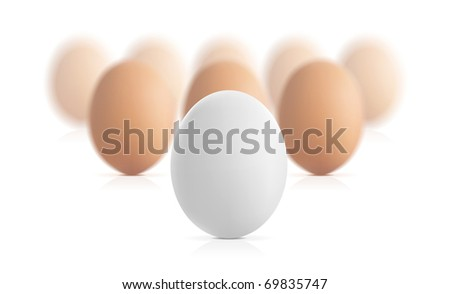 Egg concept illustration on white background - stock photo