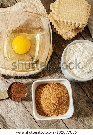 egg flour sugar