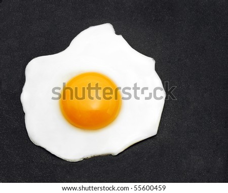 egg in frying pan - stock photo