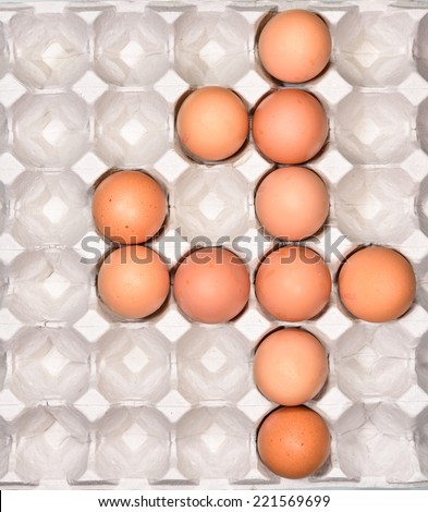 Egg in the package arrange be the number