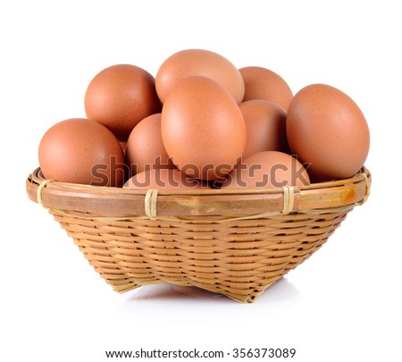 egg isolated on a white background - stock photo