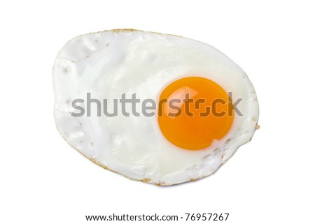 egg isolated on the white background - stock photo