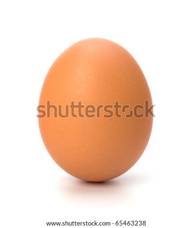 egg isolated on white background - stock photo