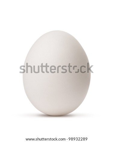 egg isolated on white background with clipping path - stock photo