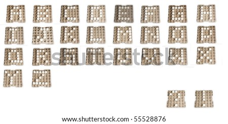 egg letters alphabet a to z - stock photo