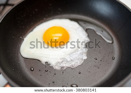 egg on a frying pan