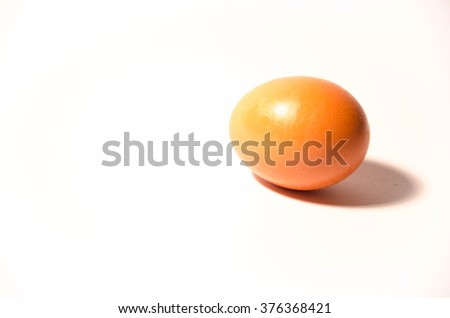 Egg on a white background.
