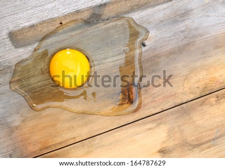 egg on a wooden background  - stock photo