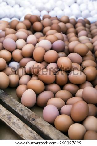 Egg on Open Market Bazaar - stock photo