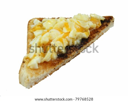 Egg on Toast - stock photo