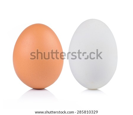 egg on white background - stock photo