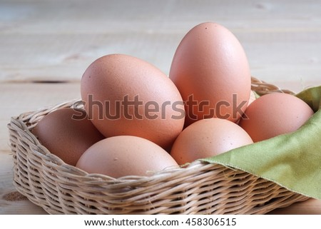 egg on wooden background