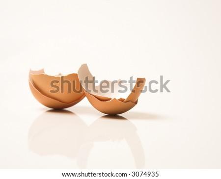 egg shells - stock photo