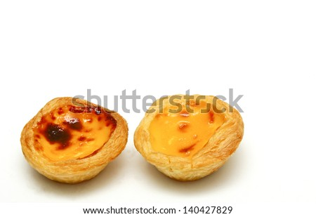 Egg tarts. - stock photo