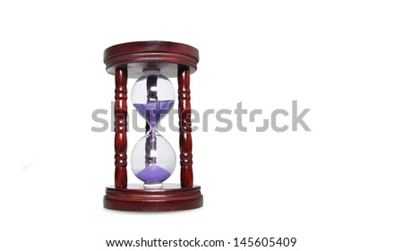 Egg timer on white