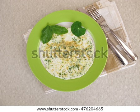 Egg white omelet with fresh herbs