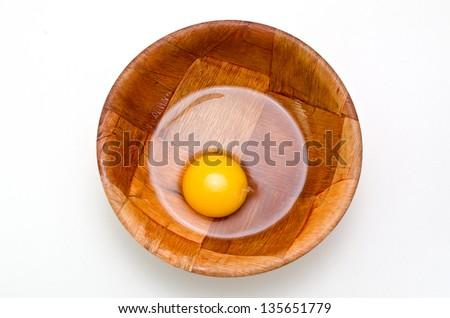 egg yolk and egg white - stock photo