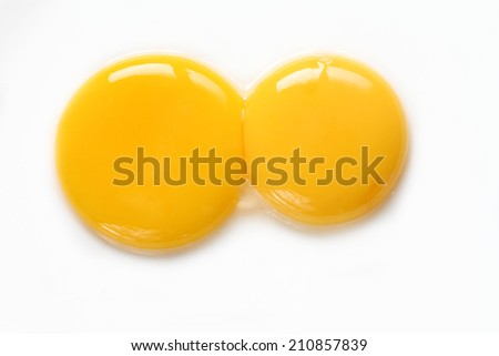 Egg yolk closeup - stock photo