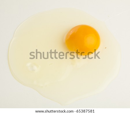 egg yolk isolated on a white background - stock photo